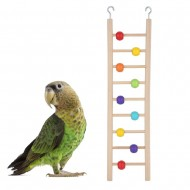 Bird Natural Wood Cage Climbing Ladder Toy