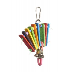 Dorapet Bodacious Bites Accordion Bird Toy, Multicolor