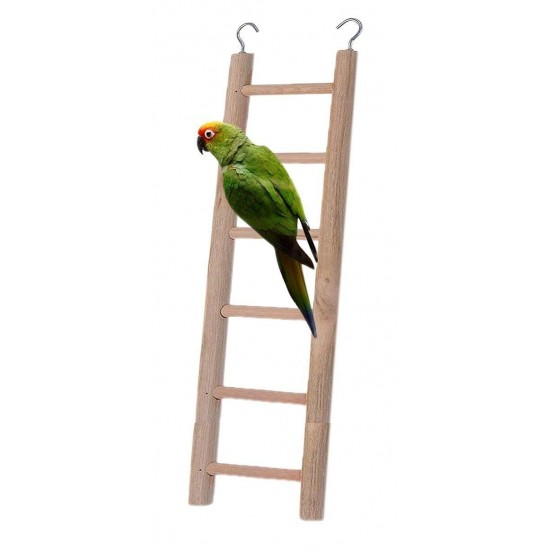 Wooden Ladder Fun Cage Toy for Bird and Small Pets, 28 cm