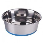 Dorapet Dog Heavy Bowl with Silicone Base - Color May Vary (1 Piece) Stainless Steel Bowl (250ML - 4000ML)
