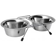 Dorapet Stainless Steel Dog/Cat Double Diner Pet Bowl Set with 2 Pet Dishes(200ML To 1600ML)