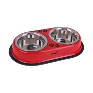 Premium Quality Dog and Cat Solid Double Diner , (400ml x 2) (Color may Vary)