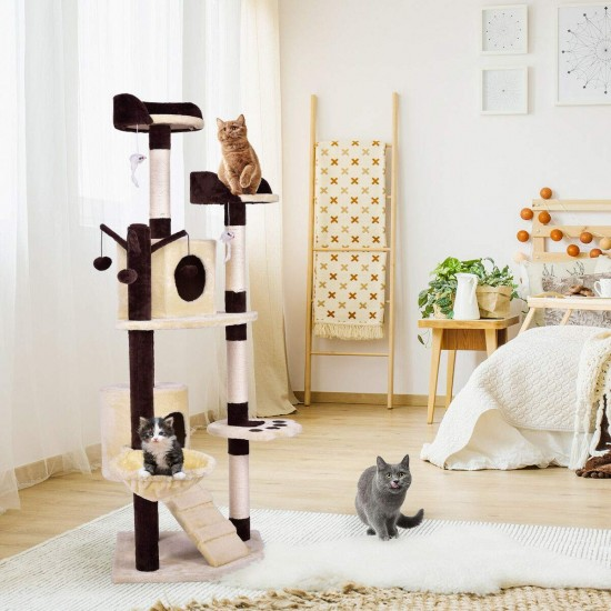 Dorapet Cat Palace Creative Play Towers Trees for Cats Pet Products Processing Cat Tree 48 * 48 * 150cm (Color May Vary)