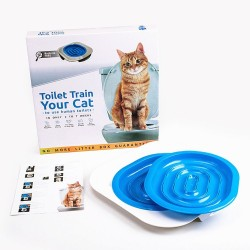 Cat Toilet Training  Seat Suitable for All Toilets for Cats Age 3 Months of Age and Older (Color May Vary)