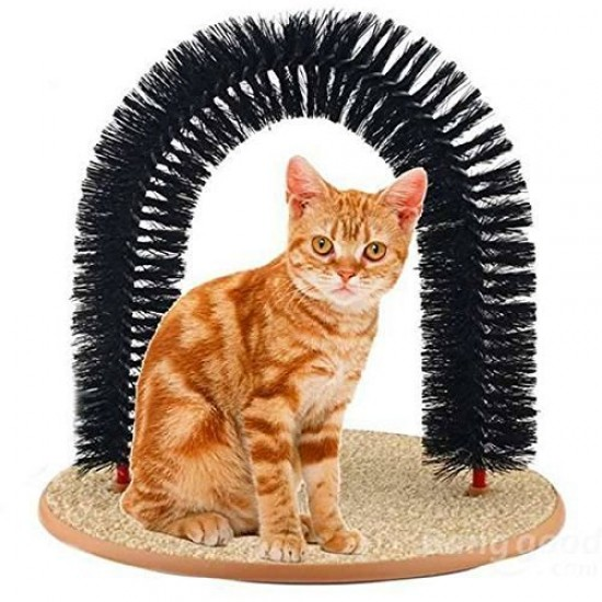 Dorapet Cat Happy Scratching Arch Self-Groomer and Massager (Color May Vary)