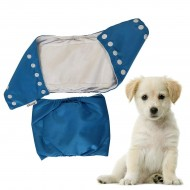Washable Pet Dog Diaper Washable Puppy Dog Belly Wrap Adjustable 14-18 Inch (Color May Vary)