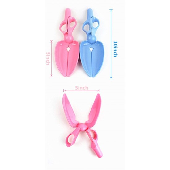 Portable Plastic Easy Waste Clean Scissors Clip with Rope for Small Medium Large Pets - Color may Vary