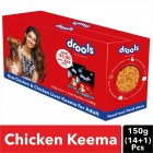 Drools Real Chicken and Chicken Liver Keema for Adult Dog, Pack of 15 with Free 1 Pouch, 150 g Each