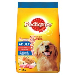 Pedigree Adult Dog Food Chicken & Vegetables, 1.2 kg Pack