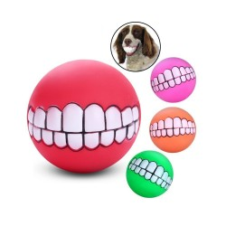 Squeaky Dog Ball Silicon Teeth Ball Fun Toy