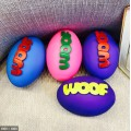 Colourful Woof Pet Vinyl American Football Toys, 1 Piece(Color may Vary)