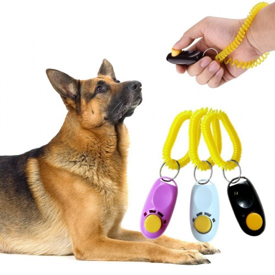 Dorapet Pet Training Clickers Obedience Aid with Wrist Strap (Color May Vary)