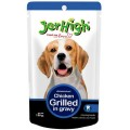 Jerhigh Wet Food for Dog Combo 4 Pack Chicken and Liver in Gravy, 4 Pack Chicken and Vegetable in Gravy, 4 Pack Chicken Grilled Gravy, 4 Pack Roasted Duck Gravy for Dogs (16x120 g)