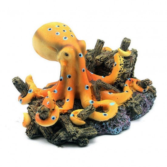 Dorapet Simulations Ocean Octopus Design Landscape Ornaments for Aquarium Fish Tank Decoration
