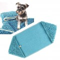 Dorapet Ultra Absorbent Microfiber Chenille Dog Bath Dry Towels with Hand Pockets, Durable, Quick Drying, Washable, Prevent Mud Dirt - Color May Vary