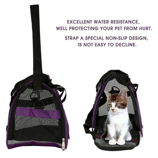 Dorapet Pet Carrier Soft Sided Cat/Puppy Small Comfort Mineral Bag Travel Approved (Color May Vary) Size: 20.67 x 9 x 13.58inch
