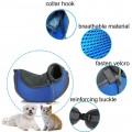 Dorapet Mesh Hands-free Pet Carrier Shoulder Bag with Adjustable Strap and Zipper for Dogs and Cats (Blue, Large)